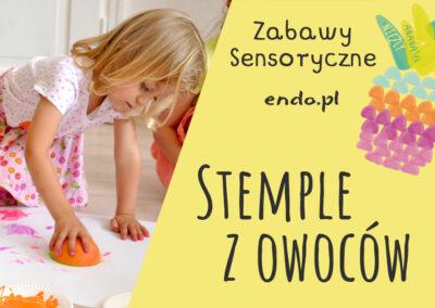 Zabawy sensoryczne – stemple z warzyw i owoców