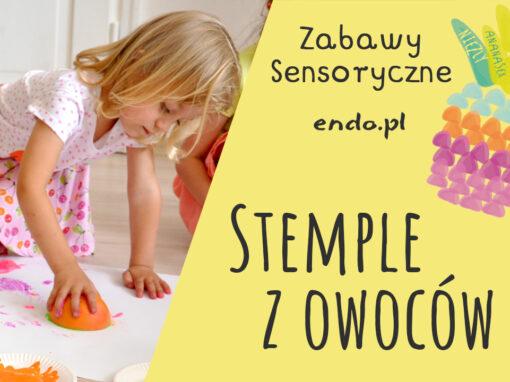 Zabawy sensoryczne – Owocowe stemple