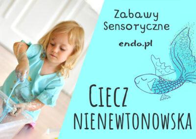 Ciecz nienewtonowska – zabawa sensoryczna dla dzieci