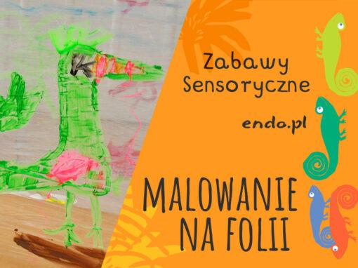 Zabawy sensoryczne – Malowanie na folii