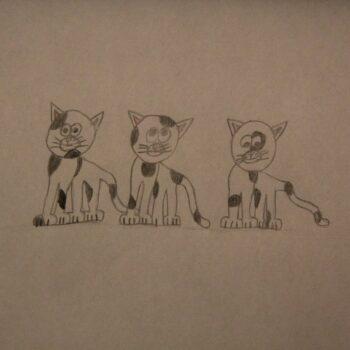 "Trzy kotki (kolekcja: ""Kocie portrety"")"