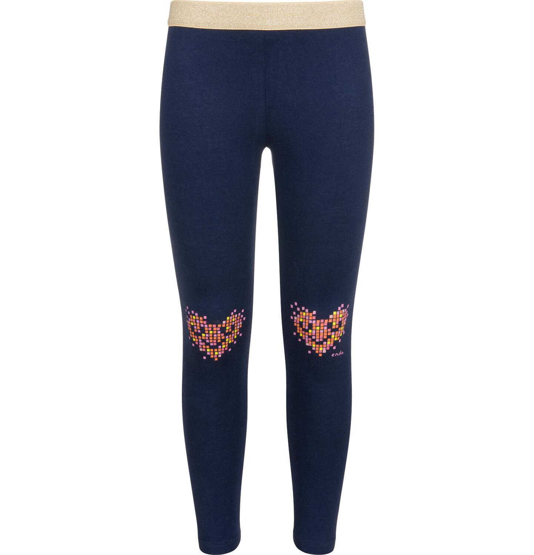 Granatowe legginsy dla dziewczynki.