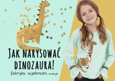 Jak narysować złotego dinozaura – Szkoła Rysunku
