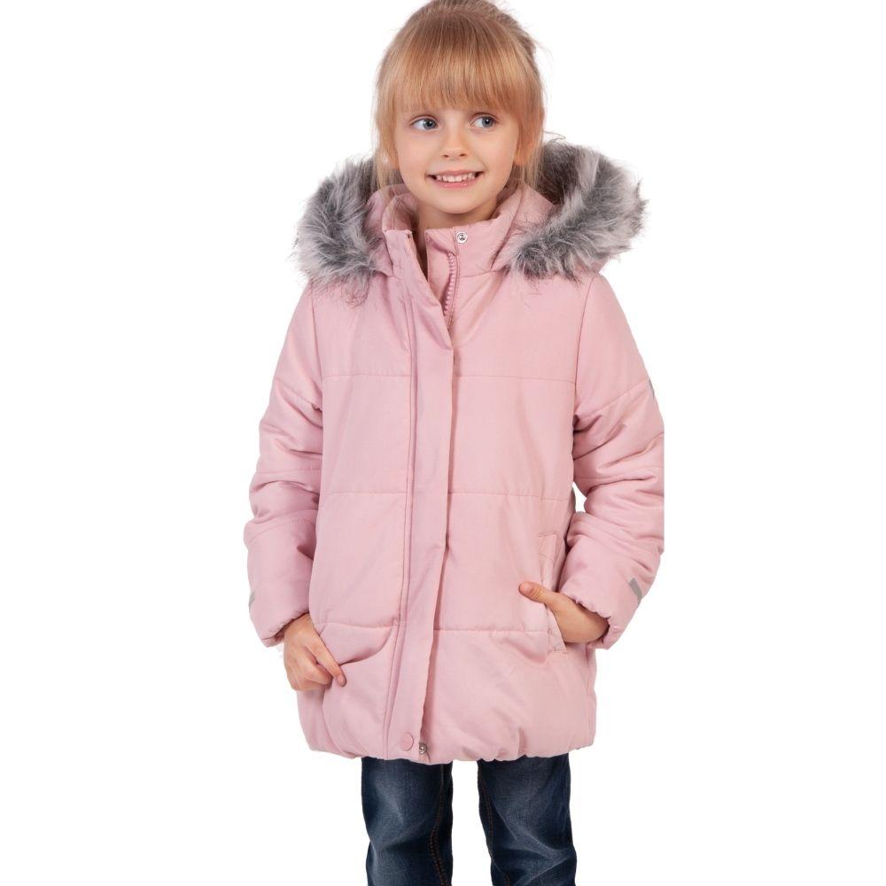 Dziewczynka w różowej kurtce dziewczęcej Endo.