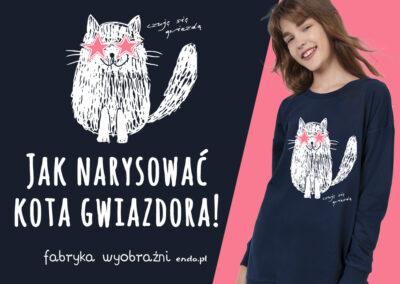 Jak narysować kota gwiazdora – Szkoła Rysunku