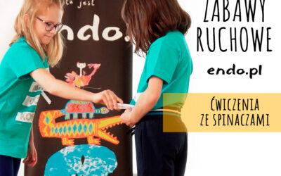 Zabawy ruchowe z Endo: ćwiczenie ze spinaczami